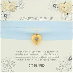 DOGEARED Silk Wrap Necklace Bride SOMETHING BLUE
